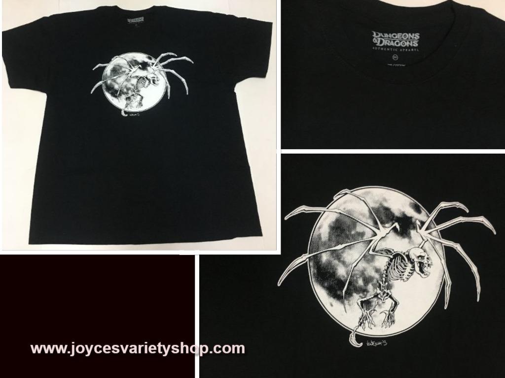 Dungeons   dragons web shirt collage spider