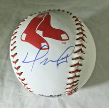 DAVID ORTIZ / RED SOX HALL OF FAME / AUTOGRAPHED RED SOX LOGO OML BASEBALL / COA image 1