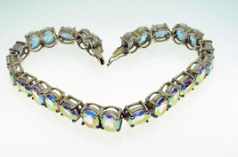 9 Carat Gold Mystic Topaz Set Bracelet 26 Stones 8 x 6 mm - $343.22