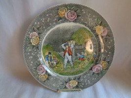 "Adams Engravings for the People Husking Currier & Ives 10 5/8"" Plate - $31.67"