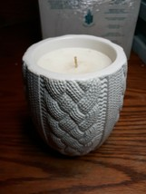 Bath & Body Works Home Scented Candles Sweater Weather Leaves Ceramic Vase - $8.19