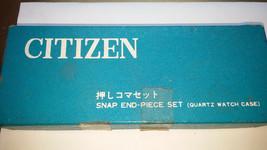 NOS VINTAGE CITIZEN SNAP END PIECE SET FOR QUARTZ WATCH CASES FOR REPAIR... - $87.32