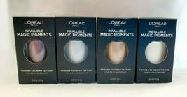 4 L'Oréal Infallible Magic Pigments Loose Eyeshadow - #440, #442, #454, #468 NEW - $16.95