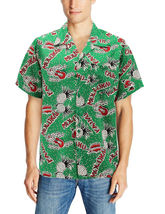Men's Casual Tropical Hawaiian Luau Aloha Revere Beach Button Up Dress Shirt image 12