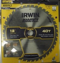 """Irwin Tools 14080 12"""" x 40 Tooth 1"""" Arbor Miter And Table Saw Blade - $27.72"""