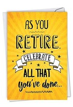 NobleWorks, As You Retire - Retirement Greeting Card with Envelope - Yellow Cong
