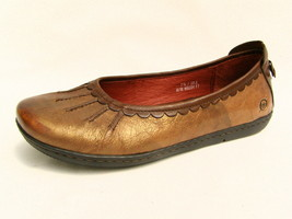 Born Ballet Flats Women's 7½M Bronze & Brown Leather Very Good Condition - $26.48