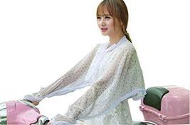 PANDA SUPERSTORE Floral Soft Long Chiffon Scarf Wrap Shawl/Cloak Girls, Purple