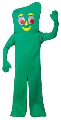 Gumby Costume Adult Cartoon Cute Green Jumpsuit Clay Halloween Unique GC4111