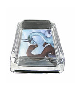 "Dragons D36 Glass Square Ashtray 4"" x 3"" Smoking Cigarette Fantasy - $12.82"