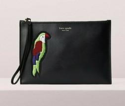 Kate Spade Parrots Bird beaded flock party small wristlet Wallet ~NWT~ Black - $110.88