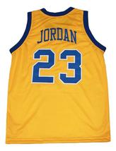 Michael Jordan #23 Laney High School Basketball Jersey New Sewn Yellow Any Size image 2