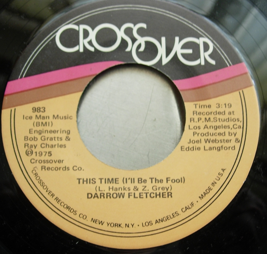 Darrow Fletcher - We've Got To Get An Understanding / This Time - Crossover 983
