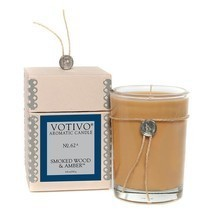 Votivo Smoked Wood and Amber #62 Aromatic Candle Plus Free Shipping - £20.51 GBP