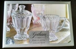 Gorham Sugar & Creamer Emilys Attic Collection Germany Full Lead Crystal 6176770 - $27.07