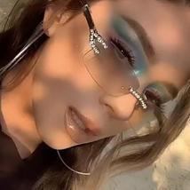 2021 Luxury Diamond Rimless Frame Fashion Eyewear Glasses image 3
