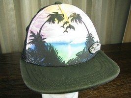 Airbrushed Tropical Scene Hat By Vans, Detailed Artist Design: Baseball ... - $24.95