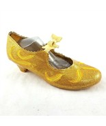 Disney Beauty and The Beast Belle Gold Dress Up Heels Shoes Girls Size 2-3 - £25.24 GBP