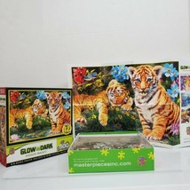 MasterPieces Glow In Dark Hidden Images 500 PC Tiger Cubs Jigsaw Puzzle ... - $16.99