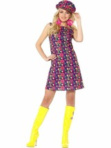 1960s Psychedelic CND Costume, 1960's Groovy Fancy Dress, Medium #AU - $32.54