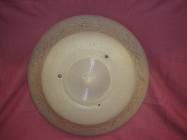 "Antique Embossed Art Glass Shade 16 1/4"" Across - $99.99"
