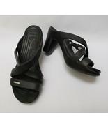 Crocs Womens Shoes Sandals Heels Black Cyprus IV Size 9 - $89.05