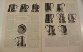 1914 OLD AMERICAN SILVER TANKARDS ~ CANS ~ SPOONS MAGAZINE ARTICLE 49 PH... - $11.99