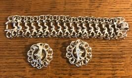 Vintage 60's Sarah Coventry Costume Jewelry Fancy Free Bracelet & Earrings Set - $14.73