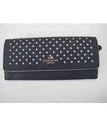 New Coach Perforated Dot Long Wallet Blue Beige 53168 - $99.00