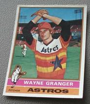 Wayne Granger, Astros  1976  Topps Card, VG COND - $0.99