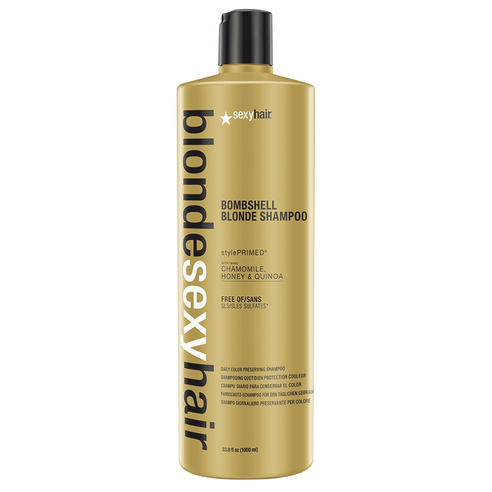 Primary image for Sexy Hair Blonde Color Preserving Bombshell Blonde Shampoo 33.8oz