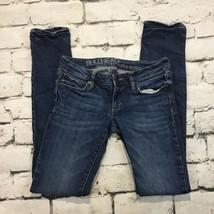 Bullhead Denim Womens Juniors Sz 1R Jeans Blue Stretch Super Skinny  - $19.79
