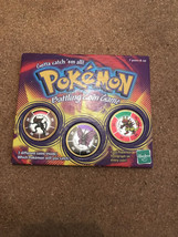 Pokemon Hasbro 1999 Battling Coin Game 141 Kabutops 49 Venomoth 126 Magm... - $12.99