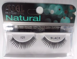 Ardell Strip Lashes Natural Style 131 Black (Pack of 10) Easy Steps Appl... - $26.98