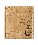 Corkor Vegan Front Pocket Wallet Men Minimalist Slim Cards Eco Durable R... - €8,86 EUR