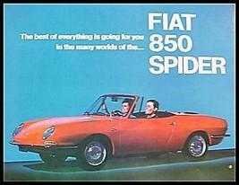 1967 Fiat 850 Spider Brochure - $17.36