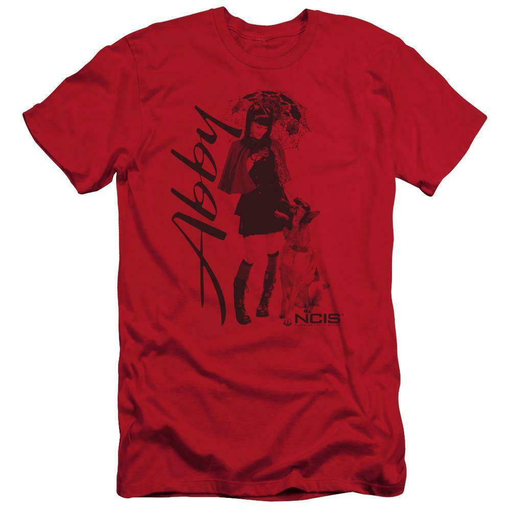 "NCIS t-shirt Abigail ""Abby"" Sciuto TV drama series red graphic tee CBS917"