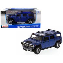 2003 Hummer H2 SUV Blue 1/27 Diecast Model Car by Maisto 31231bl - $38.61