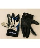 Mizuno Finch GW1 Batting Gloves Womens Size Large WL White Blue Black  - $9.99