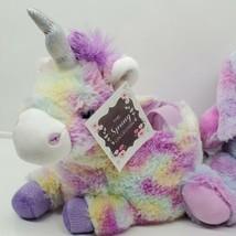 Unicorn Easter Basket Toy Storage Trick or Treat Bucket Plush with bunny... - $19.80