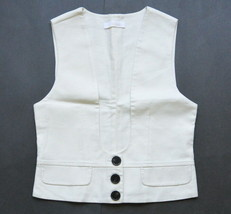 Chloe Linen Silk Vest Off White US S EU 40 Cropped - $99.95