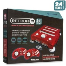 RetroN 3 Gaming Console 2.4 GHz Edition(Laser Red) - SNES/ Genesis/ NES ... - $74.99