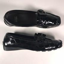 Stuart Weitzman Sz 9M Loafers Black Patent Leather Driving Shoes Slip On... - $27.83