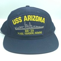 Navy collectible hat cap USN vintage veteran usa USS Arizona Pearl Harbo... - $28.01