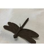 Dragonfly Nail Cast Iron Rustic Brown Wall or Garden - $5.93