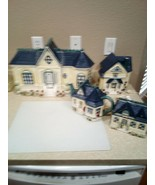 CRACKER BARREL CANISTER / COOKIE JAR SET--VICTORIAN HOUSE--1999- -FREE S... - $177.48