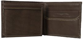 New Levi's Men's Premium Leather Credit Card Id Wallet Billfold Brown 31LV2402 image 3