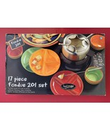 NEW 17 pc TABLETOPS Unlimited Kitchen Prep 201 Multi-Color Striped Fondu... - $24.74