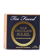 Too Faced Milk Chocolate Soleil Bronzer - Light/Medium Matte 0.08 oz Travel Size - $12.99