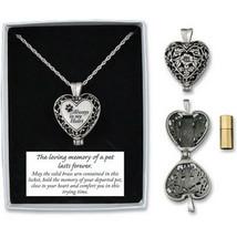 Memorial Locket Necklace Always in My Heart Pet Dog In Loving Memory Ash Urn New - $27.71